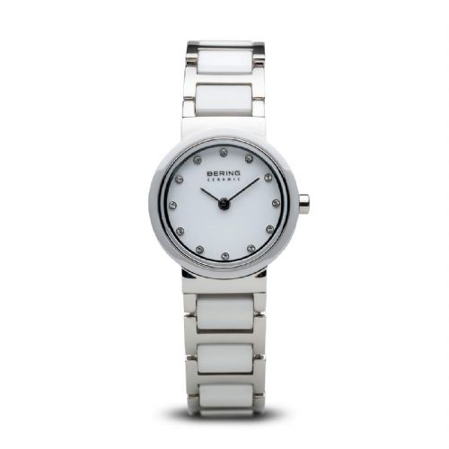 White Round Ladies Ceramic Bracelet | Bering Watch | 10725-754